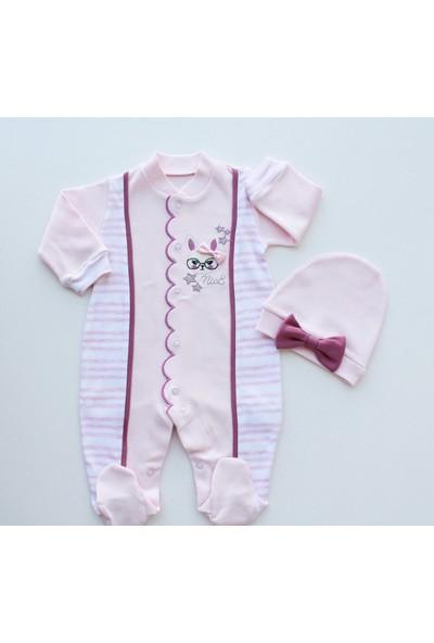 Puppis Baby Gözlüklü Tavşan Tulum Set