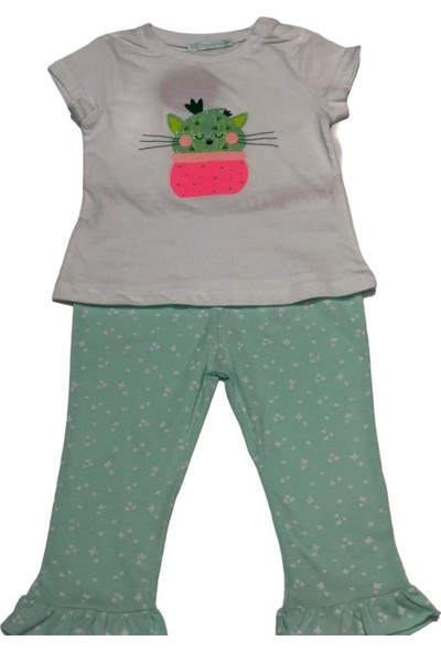 Mamino Pijama Takımı Kız Bebek Yeşil