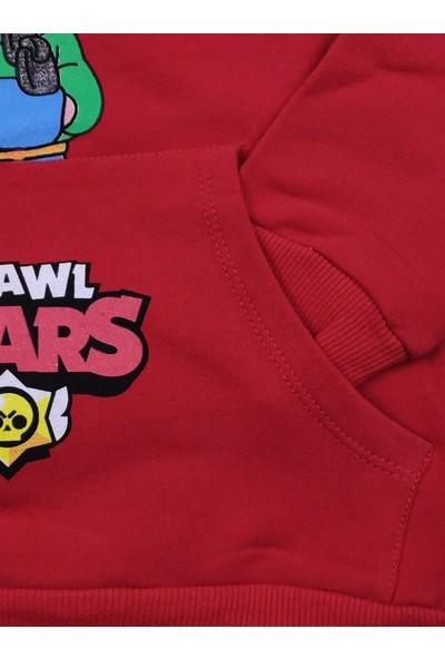 Papyon Baby Kids Brawl Stars Kapşonlu Kanguru Cepli Kışlık Erkek Çocuk Sweatshirt