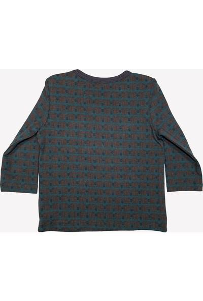 Ozmoz Sincap Desenli Yeşil Erkek Bebek Kışlık Pijama Takımı
