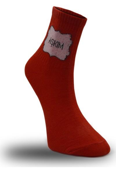 Çekmece Sevgililer Günü Aşkım Benim Koleksiyonu Çorap 2'li