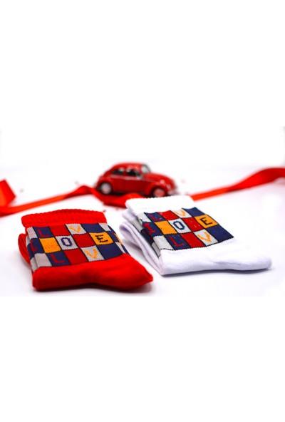 Çekmece Sevgililer Günü Love You Koleksiyonu Çorap 2'li