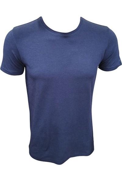 Fit and Size Erkek Yuvarlak Yaka Kısa Kollu Düz Renk Bambu T-Shirt