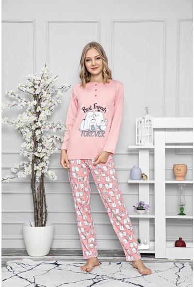 Tampap Kadın Pijama Takımı Best Friends Tampap Takım 7428