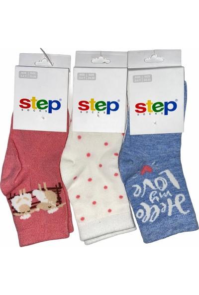Step Çorap Kız Çocuk 3 Lü Çorap