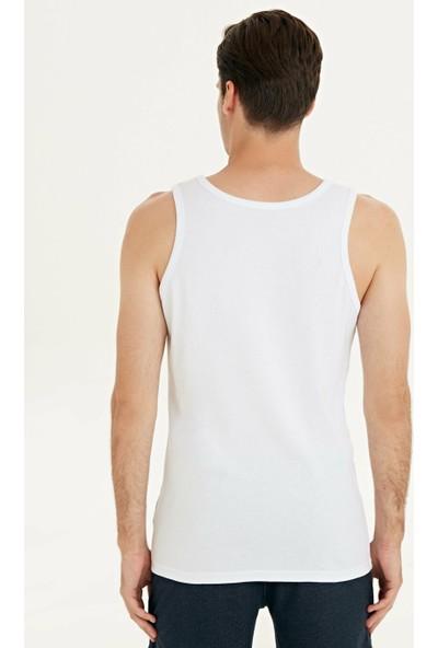 Güryıldız 6'lı Paket Penye Erkek Atlet Beyaz 24001