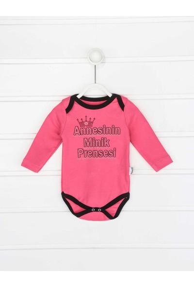 Modakids Fuşya Annesinin Minik Prensesi Kız Bebek 3 lü Takım