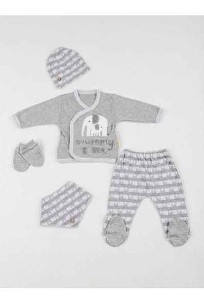 Modakids Gri Erkek Bebek 5 li Hastane Çıkışı