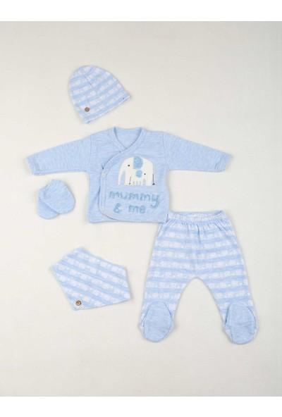Modakids Mavi Erkek Bebek 5 li Hastane Çıkışı