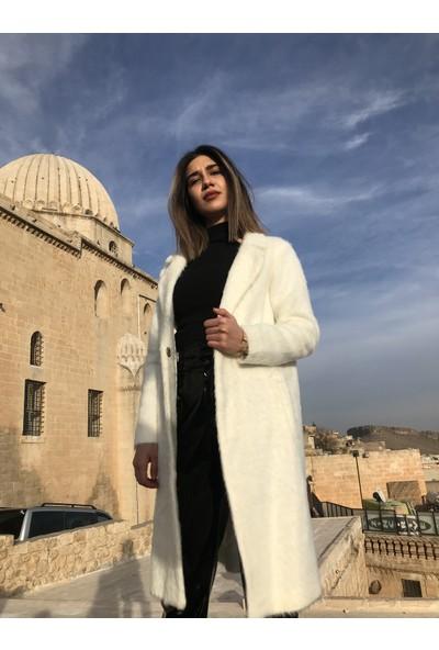 Sateen Kadın Kaşmir Kaban