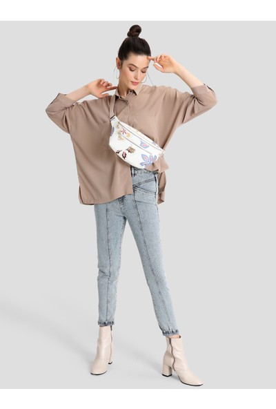 Pierre Cardin Kadın Çanta Beyaz Çiçekli 05PO16K1196-CI BY