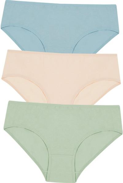 Penti Çok Renkli Cover Colors Pure 3lü Slip Külot