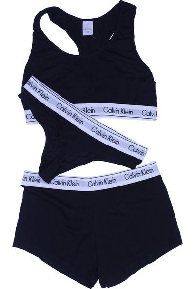 Calvin Klein Kadın Büstiyer Tanga Boxer Takım