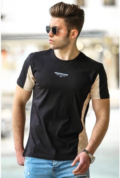 Madmext Siyah Erkek T-Shirt 4542