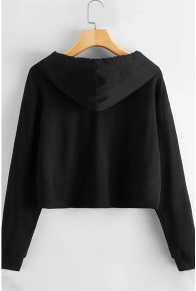 Madmext Mad Girls Siyah Kadın Sweatshirt MG901