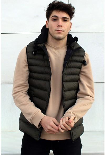 Rodrigo Y040 Erkek Şişme Kapşonlu Yelek
