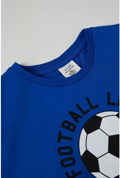DeFacto Erkek Çocuk Futbol Topu Baskılı Pijama Takımı