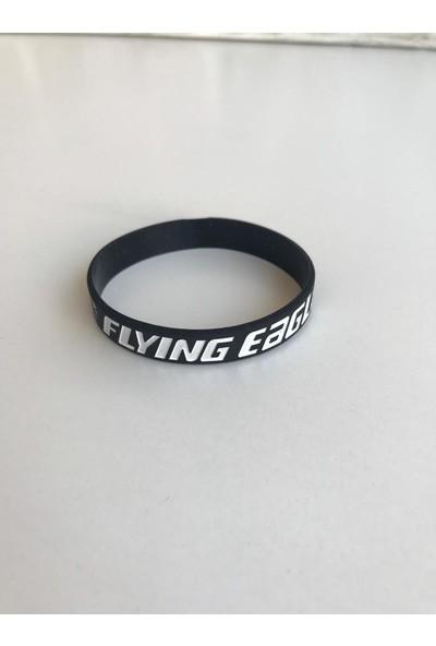 Flying Eagle Rubberwristband Black Lastik Bileklik