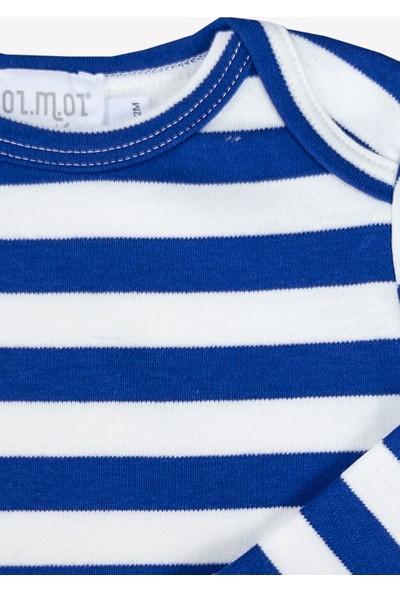 Ozmoz Mavi Çizgili Bebek Body