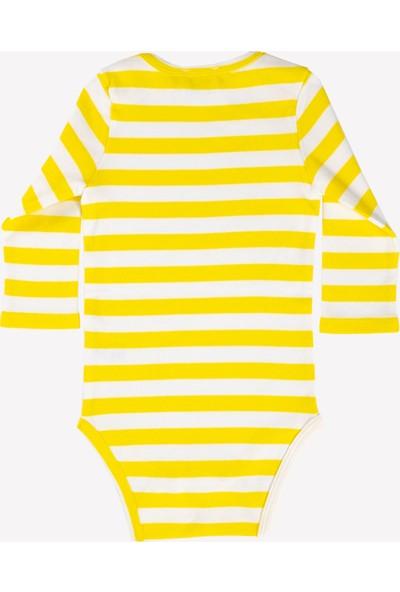 Ozmoz Sarı Çizgili Bebek Body