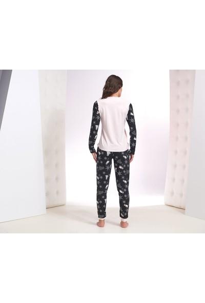 Zey Kadın Baskılı Pijama Takım 30204