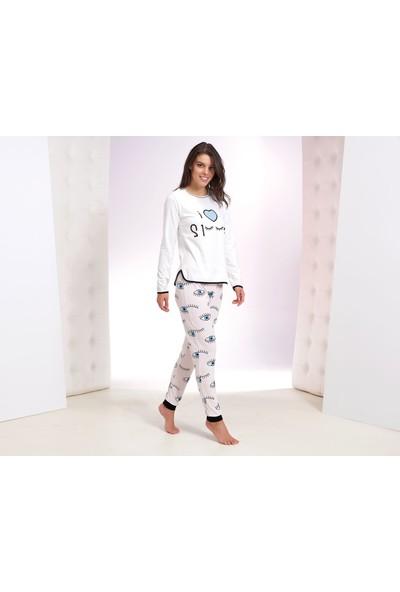 Zey Kadın Baskılı Pijama Takım 30223