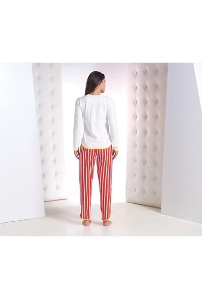 Zey Kadın Baskılı Pijama Takım 30208