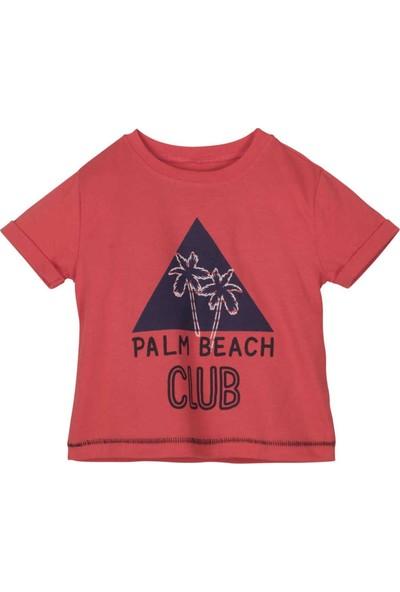 Mamino T-Shirt Erkek Çocuk Kırmızı