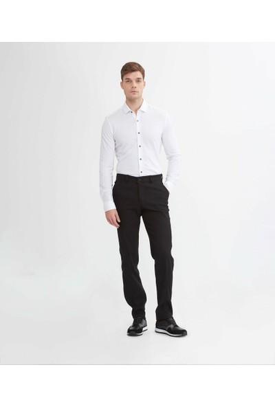 Çetinkaya Regular Kalıp Erkek Siyah Pantolon