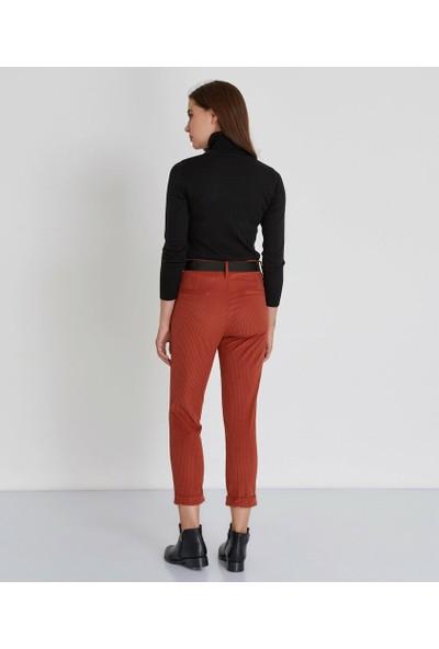 Şamdan Kadın Kiremit Pantolon