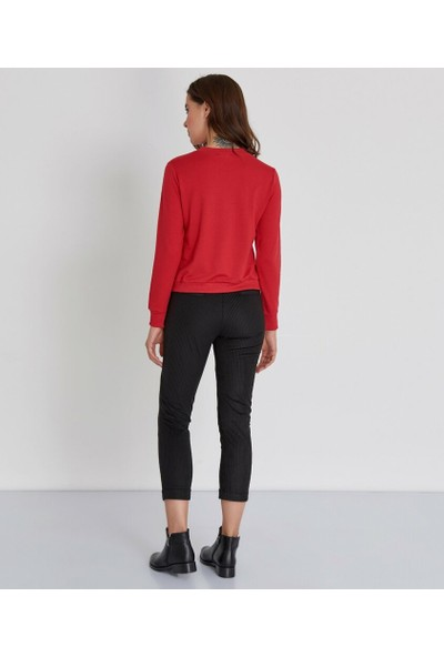 Şamdan Kadın Siyah Pantolon