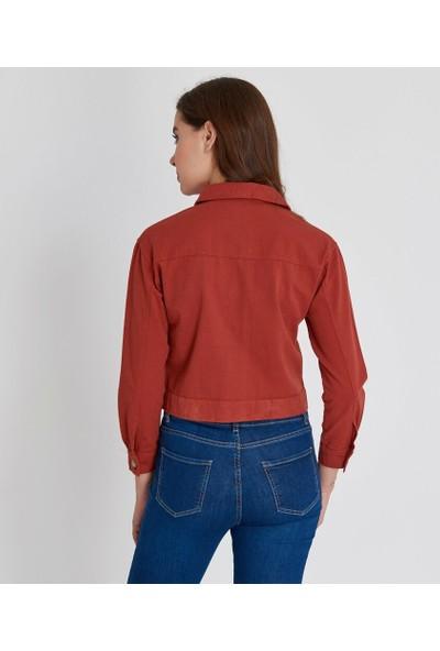 Şamdan Kadın Kiremit Ceket