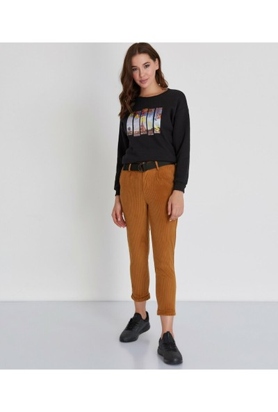 Şamdan Kadın Kahverengi Pantolon