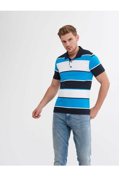 Blue Ran Ger Erkek Polo Yaka Çizgili Tshirt