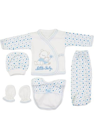 Bexkids Bebek Little Baby Mavi Desenli Zıbın Takım