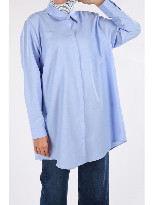 ALLDAY Kadın Büyük Beden Gömlek Tunik
