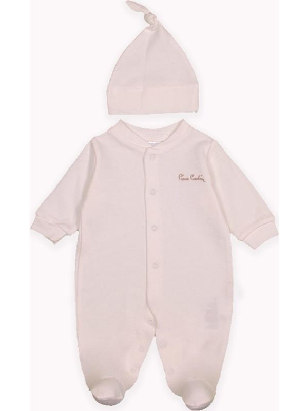 Pierre Cardin Bebek Giyim Pierre Cardin Bebek Şapkalı Tulum Ekru