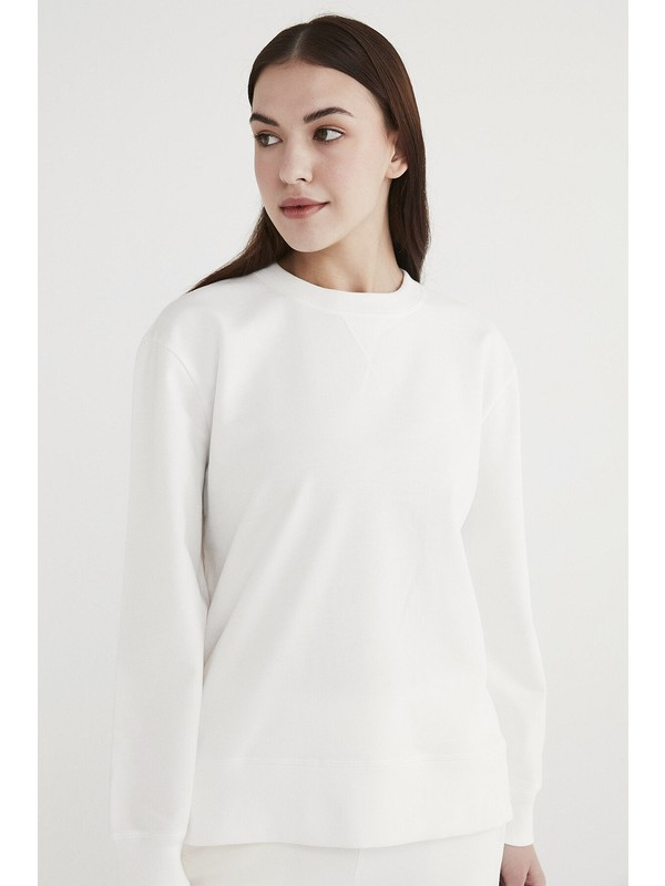 Penti Beyaz Boyfriend Sweatshirt