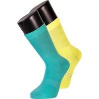 Davetta 6'lı Dikişsiz Renkli Tennis Çorap