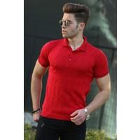 Madmext Erkek Kırmızı Polo Tişört 4538
