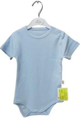 Albimini Minidamla Penye Yarımkol Bebe Body 43201 Mavi