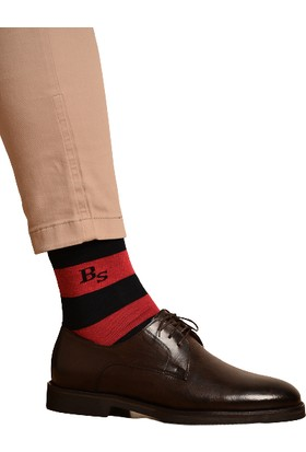 Brave Socks 3'lü Çizgili Desenli Pamuklu Çorap