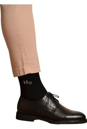 Brave Socks 12'li Pamuklu Siyah Düz Erkek Çorap
