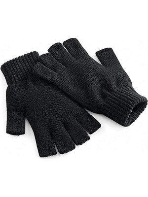 Imershoes Siyah Parmaksız Kesik Yarım Parmak Erkek Eldiven