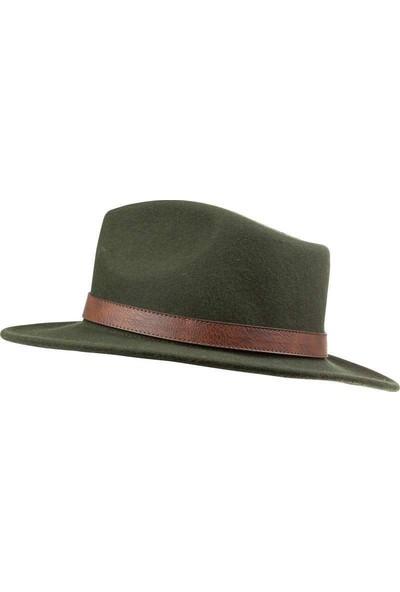 Solognac Fötr Şapka Yeşil %100 Yün Meridyendukkan Su Tutmaz