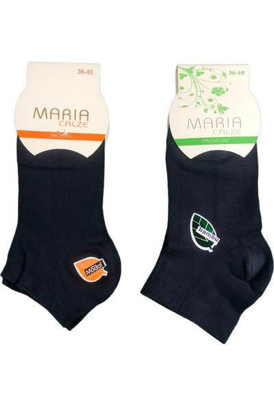 Maria 3'lü Maria Bayan Dikişsiz Bambu Patik Çorap