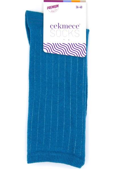 Çekmece Senin Gerçek Renklerin Unisex 3'lü Gökyüzü Renkleri Pamuklu Soket Çorap