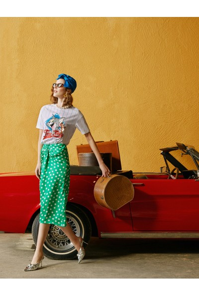 Koton Skirtly Yours Styled by Melis Agazat Puantiyeli Etek