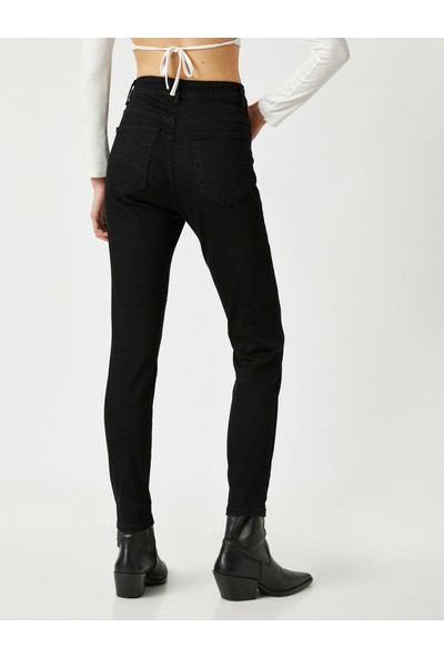 Koton Carmen Jean - Yüksek Bel Dar Kesim Dar Paça Pantolon