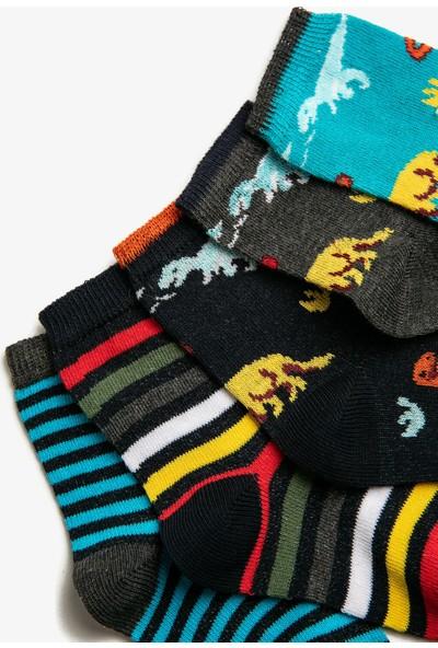 Koton Erkek Çocuk 5'li Desenli Pamuklu Çorap Seti